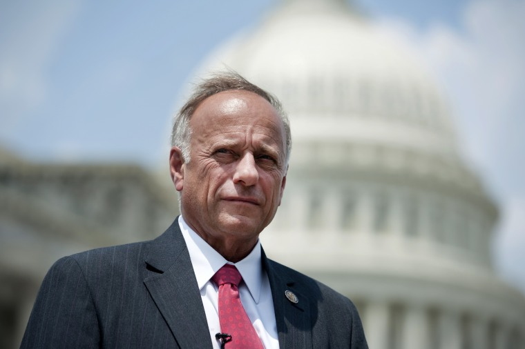 Image: Rep. Steve King outside of the Capitol in 2012.