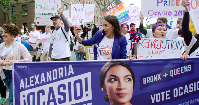 "Alexandria Ocasio-Cortez in the Netflix documentary ""Knock Down the House."""