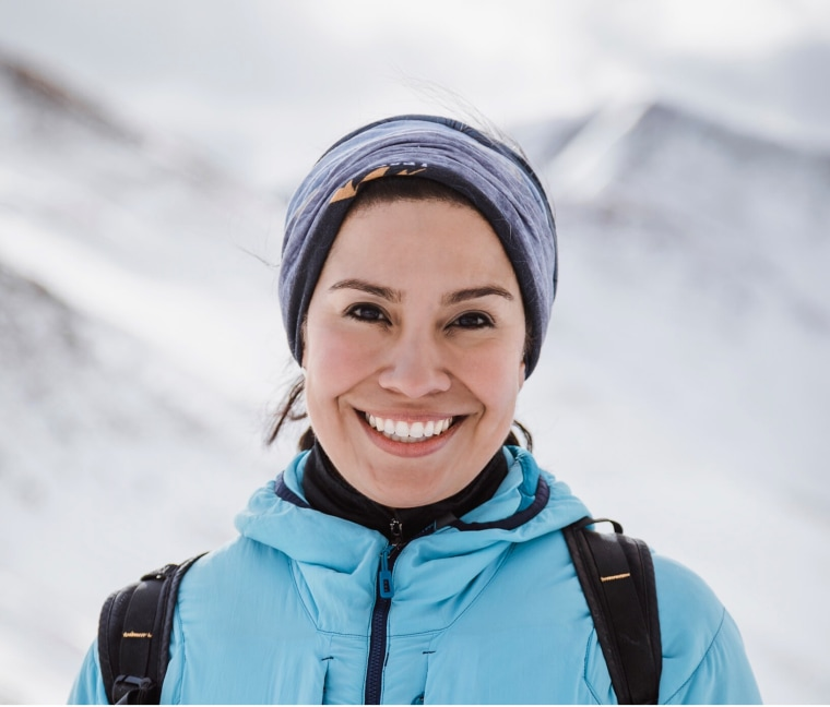 Georgina Miranda, an executive coach with Liz Bentley Associates, has climbed almost every top peak across all seven continents.