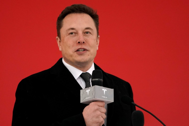 Image: Tesla CEO Elon Musk attends the Tesla Shanghai Gigafactory groundbreaking ceremony in Shanghai