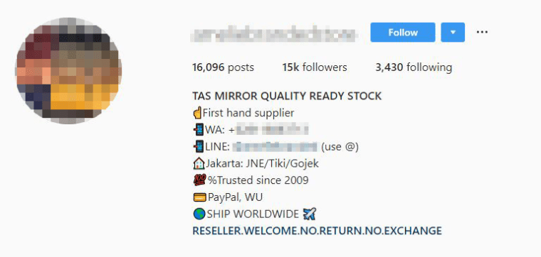Scammers have turned Instagram into a showroom for luxury counterfeits