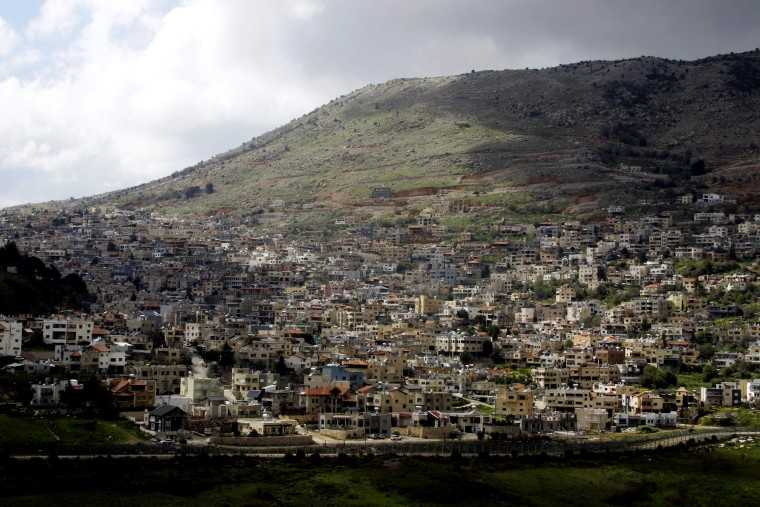 Image: The town of Majdal Shams in the Israeli-annexed Golan Heights on March 26, 2019.