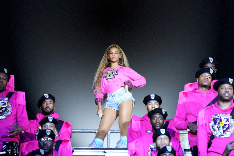 Image: Beyonce performs at Coachella in 2018.