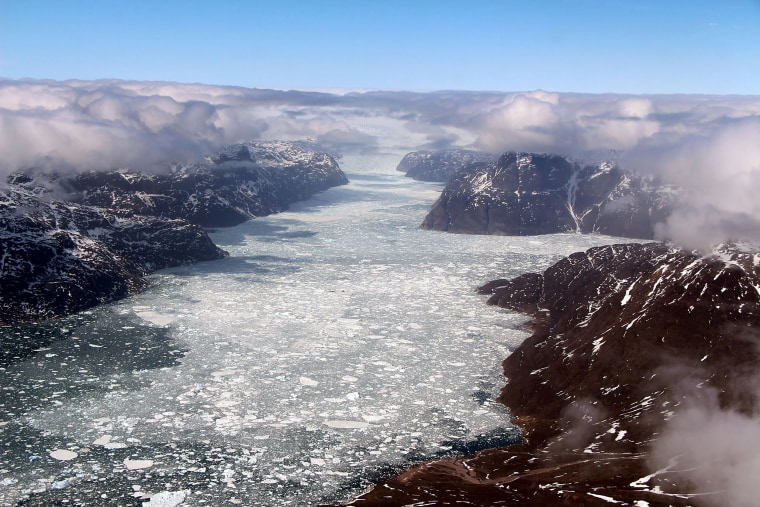 Image: TOPSHOT-GREENLAND-US-SCIENCE-FJORD