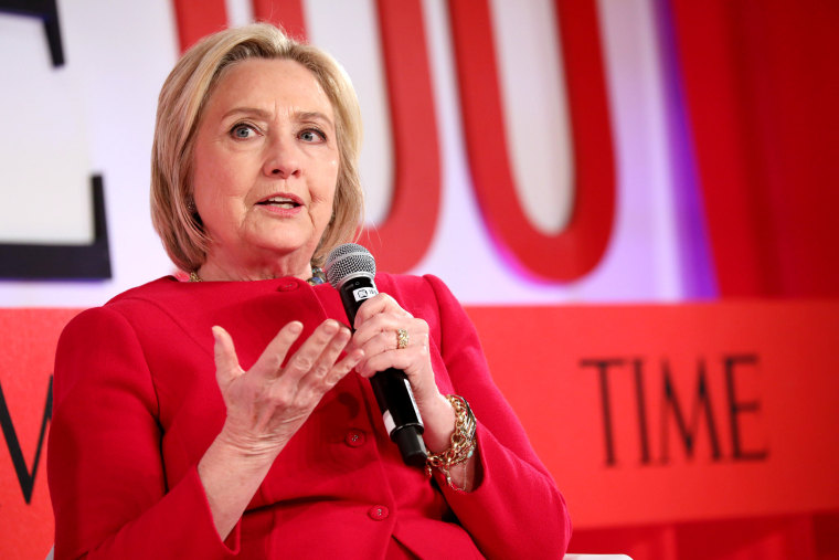 Image: Hillary Clinton speaks at the TIME 100 Summit on April 23, 2019 in New York.