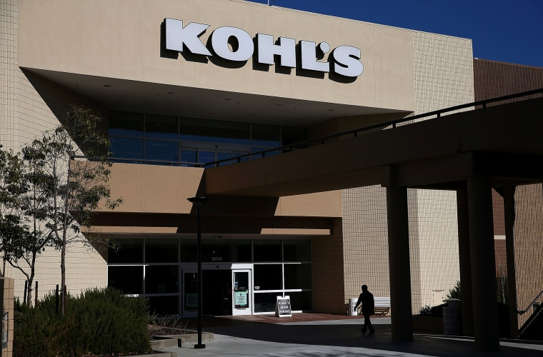 Image: A customer enters a Kohl's store in California in 2015.