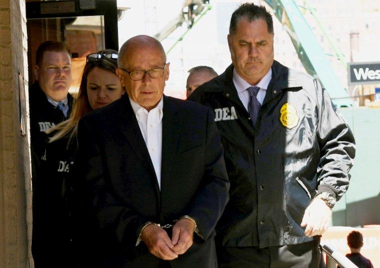 Image: Laurence Doud III is taken into custody in New York on April 23, 2019.