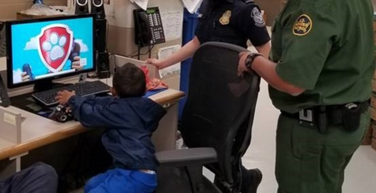 U.S. border agents said a three-year-old migrant watched movies