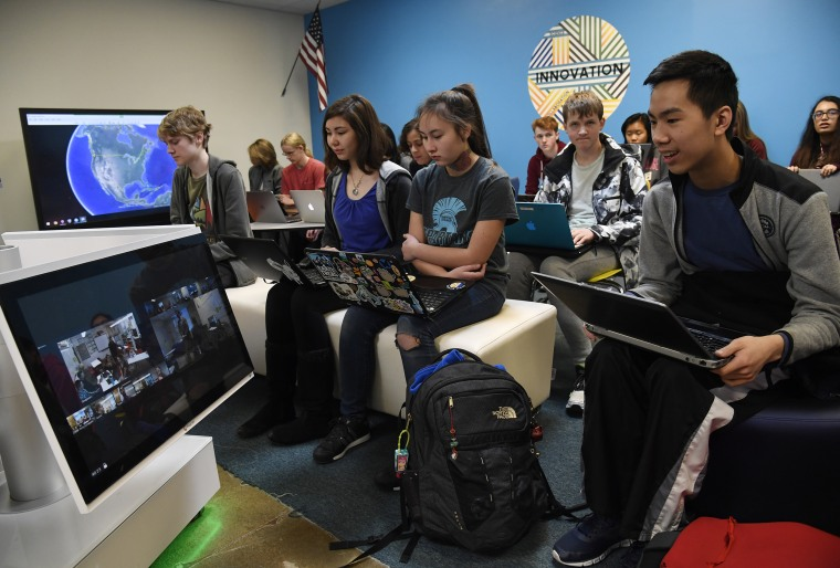 Image: STEM Video Teleconferencing class