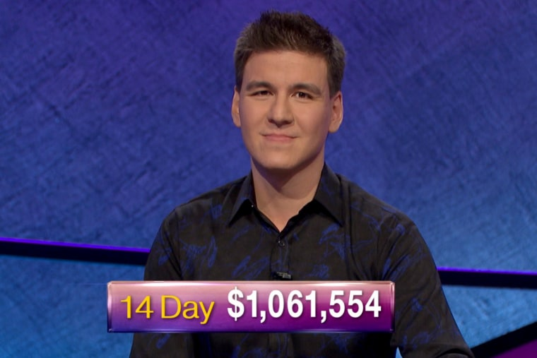 "Image: ""Jeopardy!\"" contestant James Holzhauer passes the $1 million winnings mark on April 23, 2019."