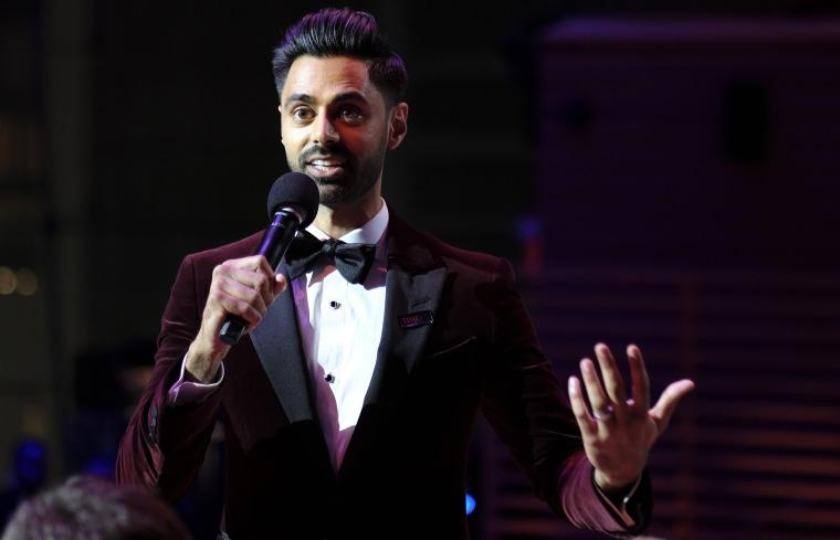 Image: Hasan Minhaj speaks during the TIME 100 Gala