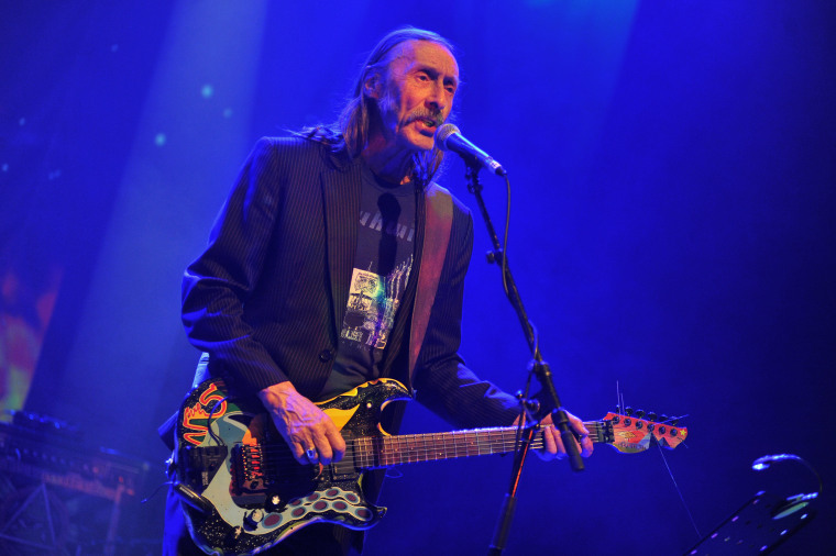 Dave Brock of Hawkwind performs during the Rock 4 Rescue charity concert in London