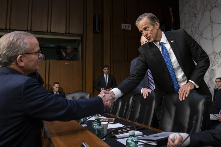 Image: NTSB Chairman Robert Sumwalt And Acting FAA Administrator Daniel Elwell Testify Before Senate On Airline Safety