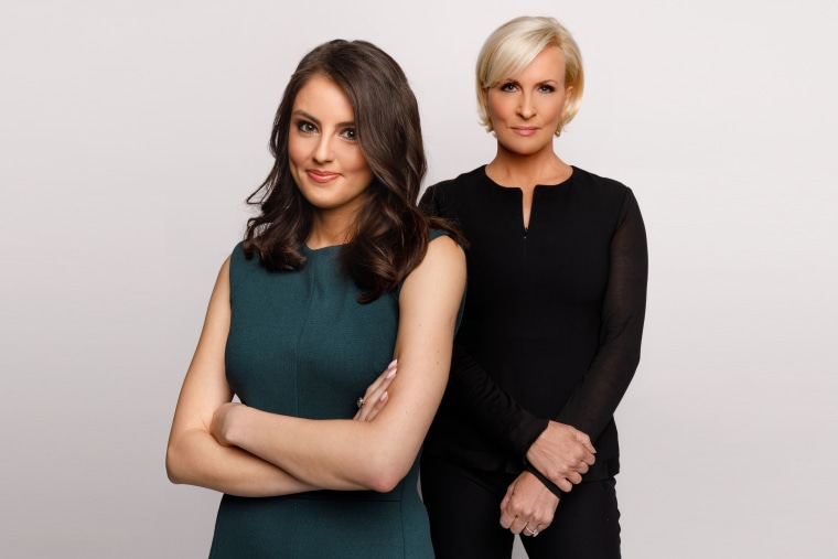 """Know Your Value founder and """"Morning Joe"""" co-host Mika Brzezinski and Know Your Value millennial contributor Daniela Pierre-Bravo."""