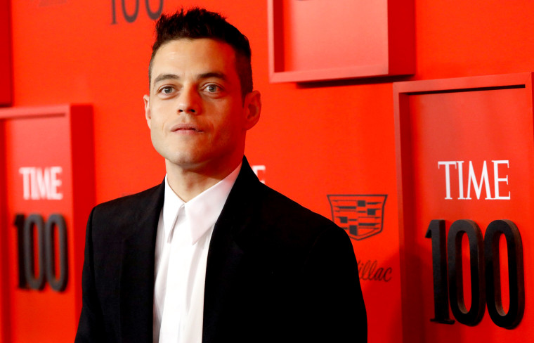 Image: Rami Malek arrives at the Time 100 Gala in New York on April 23, 2019.