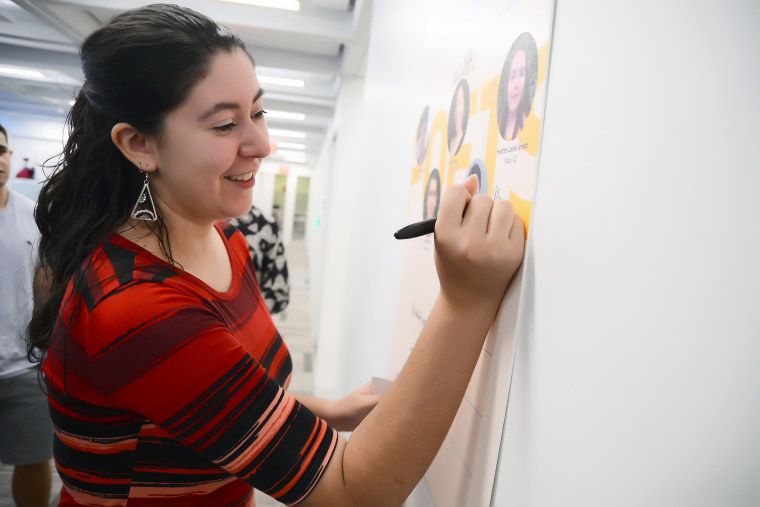 Image: As a literary ambassador for the National Students Poet Program, Contreras-Montesano has led poetry workshops at schools in Vermont,  New York, New Jersey and Maine