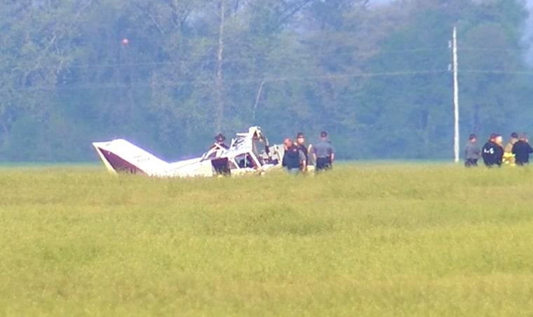 Image: Two men were killed in a plane crash in Henderson County, Kentucky, on April 24, 2019.