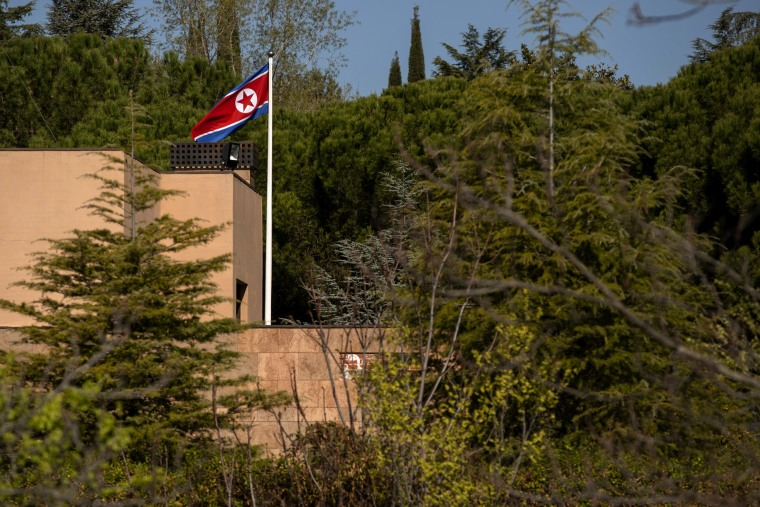 Image: The North Korean embassy in Madrid, Spain, on March 27, 2019.