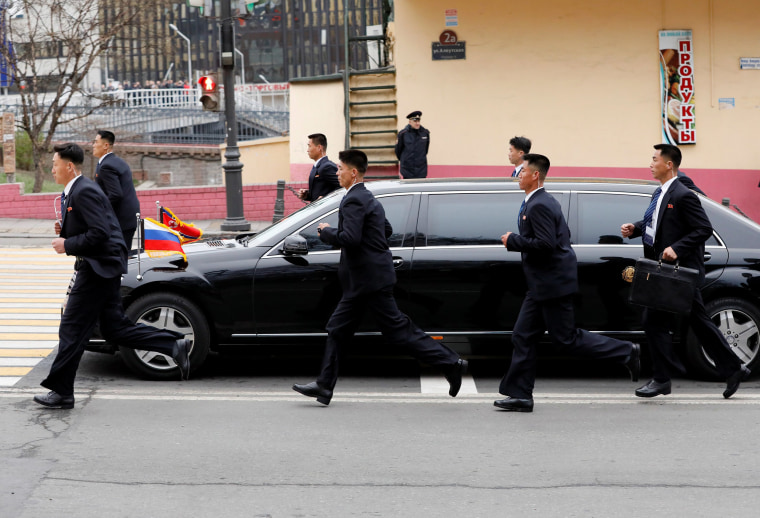 Image: North Korea's Kim arrives in Vladivostok for summit with Russian President Putin