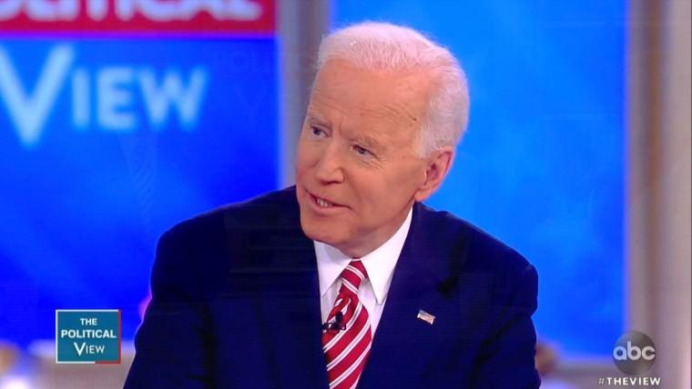 Joe Biden on The View on April 26, 2019.