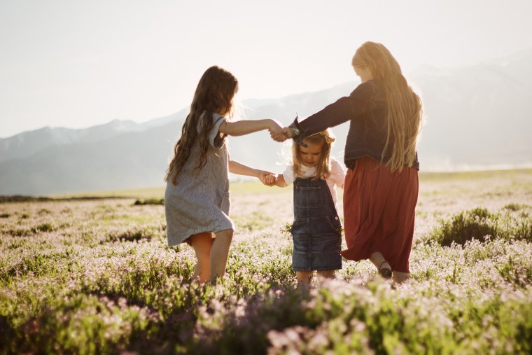 Image: Three daughters in a field