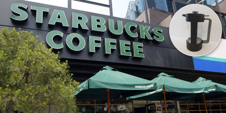 Starbucks recalls 263,000 Bodum French press coffee makers over laceration risk