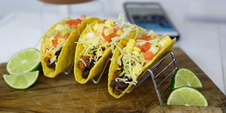 Joy Bauer's Black Bean Tacos + Margarita Guacamole + Blackberry Margarita