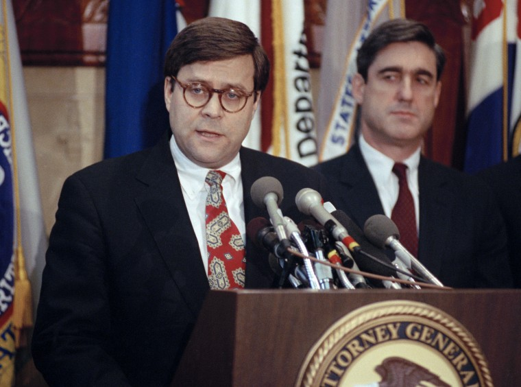 William P. Barr, Robert Mueller, Bob Mueller