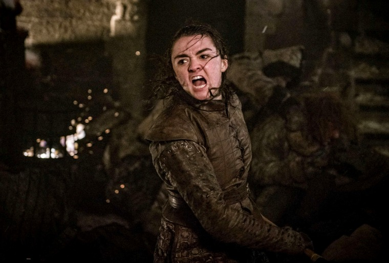 "Image: Maisie Williams in Season 8 Episode 3 of HBO's ""Game of Thrones."""