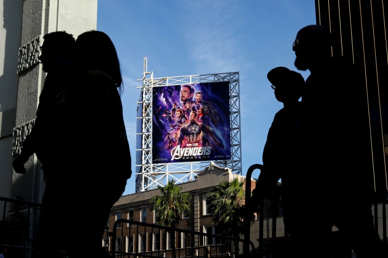 """Image: Fans arrive at the TCL Chinese Theatre for the opening screening of """"Avengers: Endgame"""" in Los Angeles on April 25, 2019."""