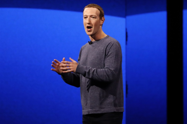 Image: Facebook CEO Mark Zuckerberg makes his keynote speech during Facebook Inc's annual F8 developers conference in San Jose
