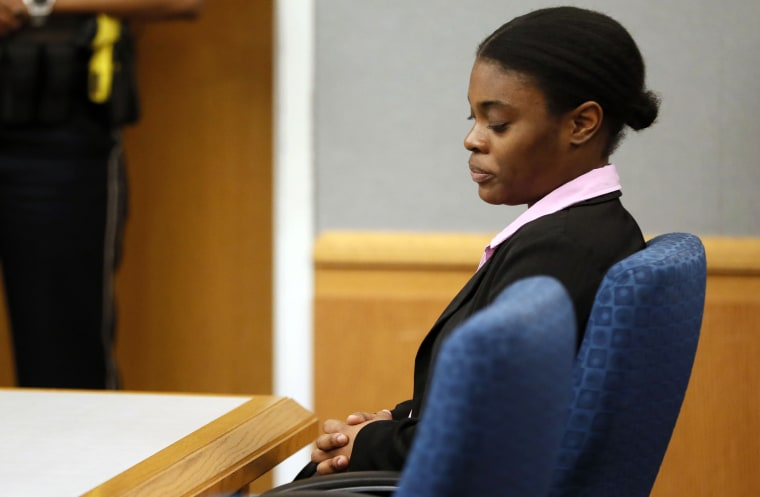 Image: Tiffany Moss is sentenced to death by a jury after being found guilty of murder in Lawrenceville, Georgia, on April 30, 2019.