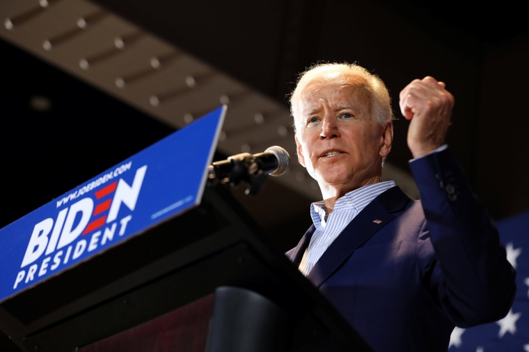 Image: 2020 Democratic U.S. presidential candidate and former Vice President Joe Biden campaigns in Cedar Rapids