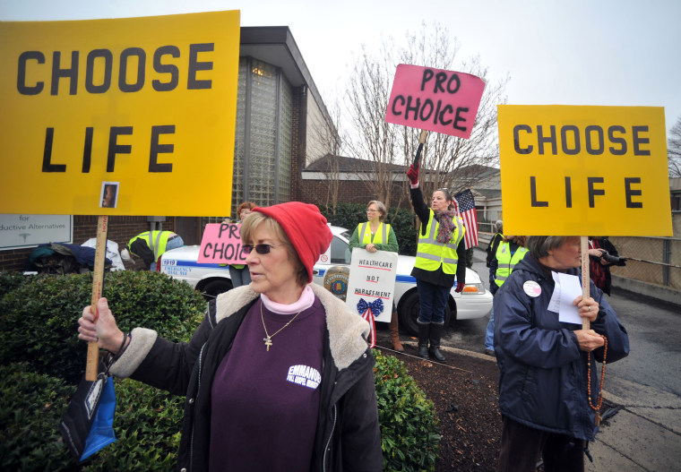 Image: Abortion protesters in Alabama