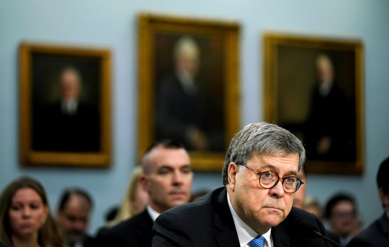 Image: Attorney General William Barr testifies before the House Appropriations Subcommittee on April 9, 2018.