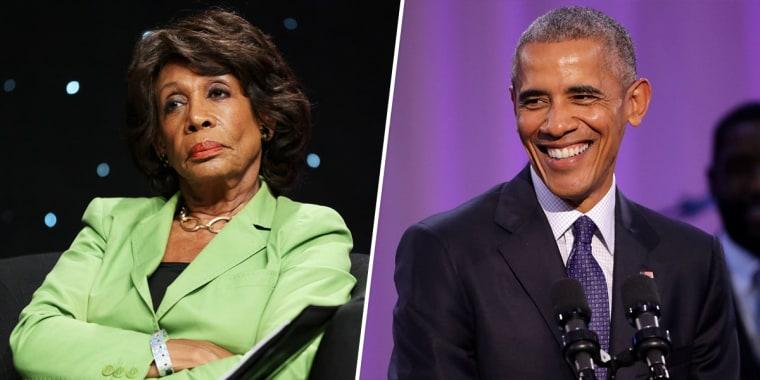 Maxine Waters, Barack Obama.
