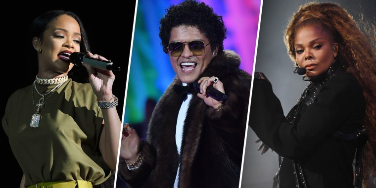 Rihanna, Bruno Mars and Janet Jackson