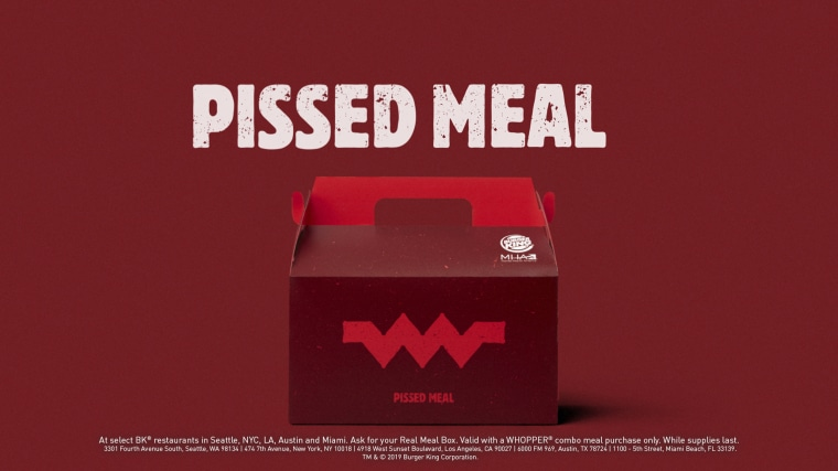 Image: Burger King unhappy meals