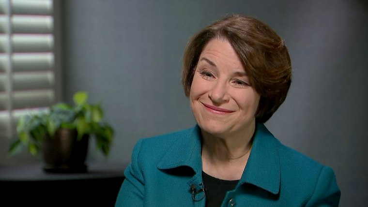 Sen. Amy Klobuchar, D-Minn., sits down with NBC's Ali Vitali to talk about the newest policy roll out of her presidential campaign.