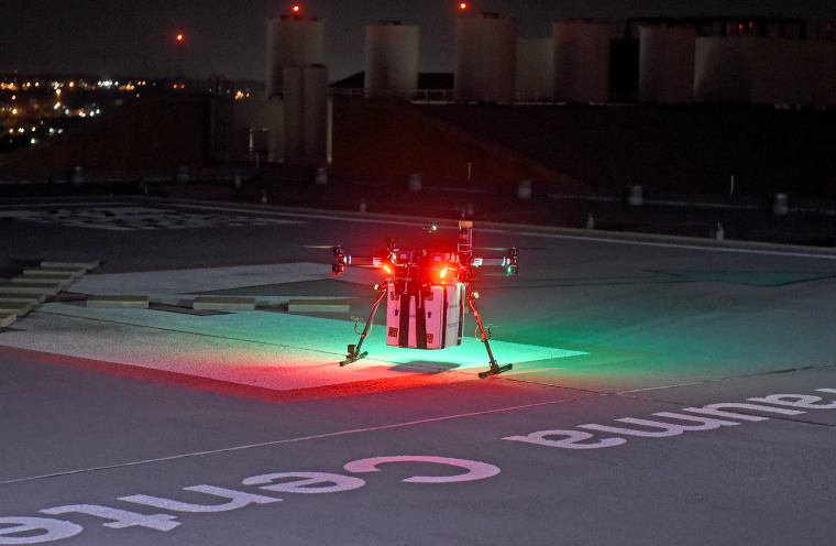 An unmanned aircraft delivered a donor kidney to surgeons for successful transplantation in a patient with kidney failure, at the University of Maryland Medical Center.