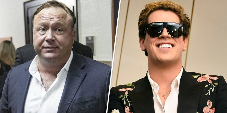 Image: Alex Jones and Milo Yiannopoulos