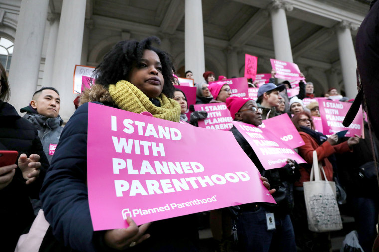 Planned Parenthood Protests Trump Administration's Title X Rule Change