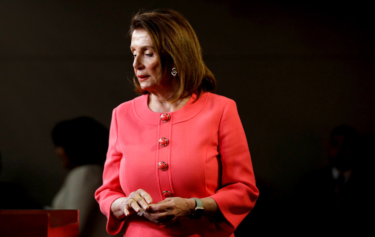 Image: House Speaker Nancy Pelosi holds a weekly news conference on Capitol Hill in Washington