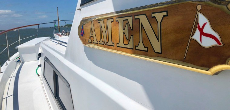 "Eric Wagner's boat, ""Amen."""