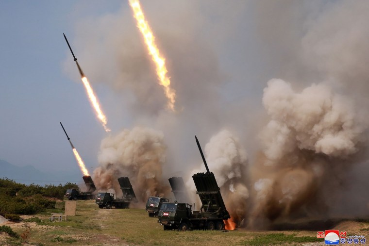 NKOREA-MILITARY-ROCKETS-TEST