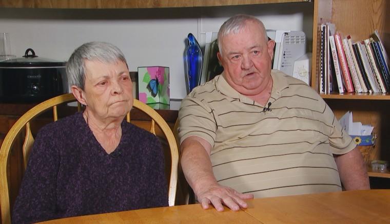 Diane and Jim Gagnon, parents of Jeff Gagnon