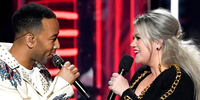 Kelly Clarkson and John Legend