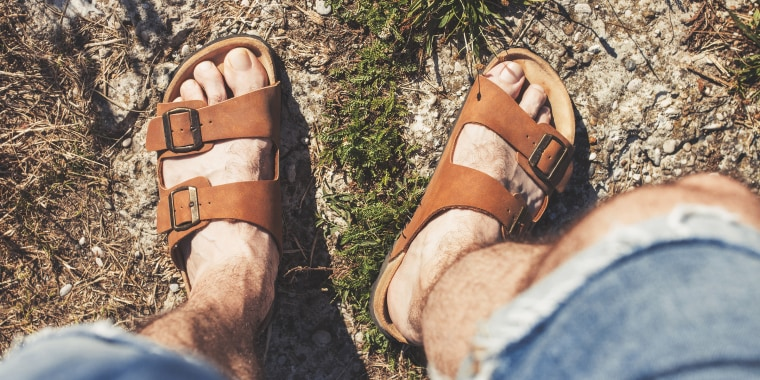More men are wearing sandals