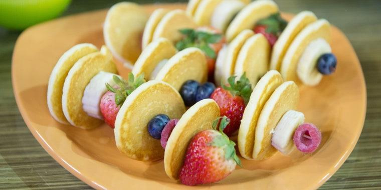 Pancake & Fruit Kabobs