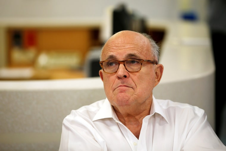 Image: U.S. President Donald Trump's attorney Rudy Giuliani is seen during a visit at the Hadassah Medical Center in Jerusalem